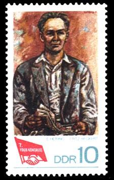 10 Pf Briefmarke: 7. FDGB-Kongress