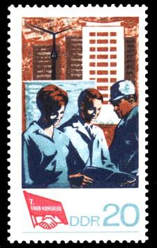 20 Pf Briefmarke: 7. FDGB-Kongress