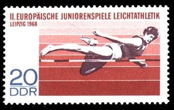 20 Pf Briefmarke: II. Europäische Juniorenspiele Leichtathletik