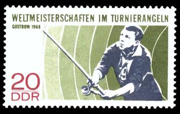20 Pf Briefmarke: Weltmeisterschaften im Tunierangeln