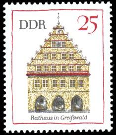 25 Pf Briefmarke: Bedeutende Bauwerke