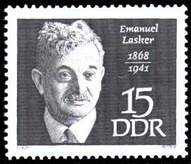 15 Pf Briefmarke: Bedeutende Persönlichkeiten, Emanuel Lasker