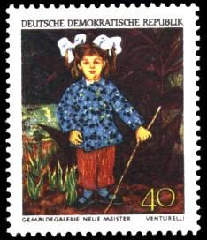 40 Pf Briefmarke: Dresdner Gemäldegalerie, Bildnis der Tochter
