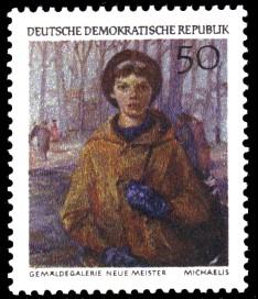 50 Pf Briefmarke: Dresdner Gemäldegalerie, Oberschülerin Petra