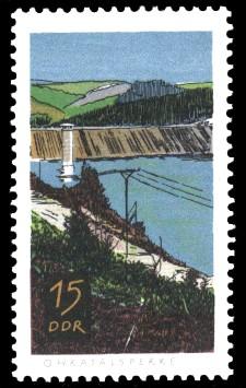 15 Pf Briefmarke: Talsperren der DDR, Ohratalsperre