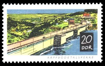 20 Pf Briefmarke: Talsperren der DDR, Rappbodetalsperre