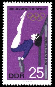 25 Pf Briefmarke: XIX. Olympische Sommerspiele, Turnen