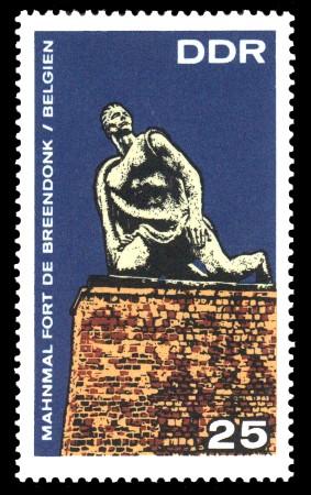 25 Pf Briefmarke: Mahn- und Gedenkstätte Breendonk