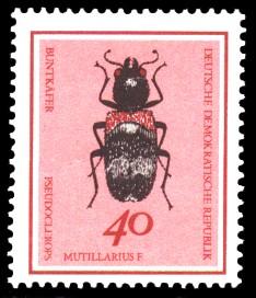 40 Pf Briefmarke: Nützliche Käfer, Buntkäfer