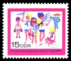 15 Pf Briefmarke: 20 Jahre Pionierorganisation