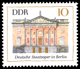 10 Pf Briefmarke: Bedeutende Bauwerke