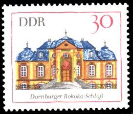 30 Pf Briefmarke: Bedeutende Bauwerke