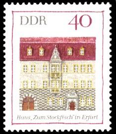 40 Pf Briefmarke: Bedeutende Bauwerke