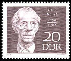 20 Pf Briefmarke: Bedeutende Persönlichkeiten, Otto Nagel