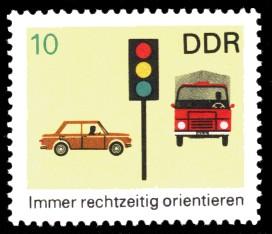 10 Pf Briefmarke: Verkehrserziehung