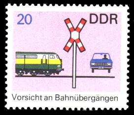 20 Pf Briefmarke: Verkehrserziehung