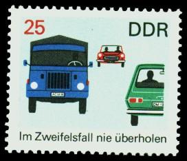 25 Pf Briefmarke: Verkehrserziehung
