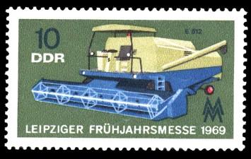 10 Pf Briefmarke: Leipziger Frühjahrsmesse 1969