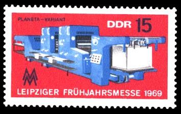 15 Pf Briefmarke: Leipziger Frühjahrsmesse 1969