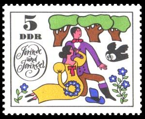 5 Pf Briefmarke: Märchen Jorinde und Joringel