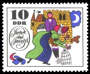 10 Pf Briefmarke: Märchen Jorinde und Joringel