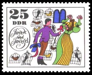 25 Pf Briefmarke: Märchen Jorinde und Joringel