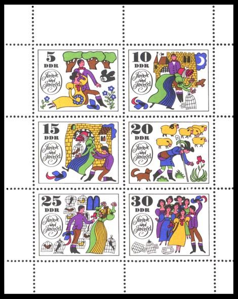 Briefmarke: Kleinbogen: Märchen Jorinde und Joringel