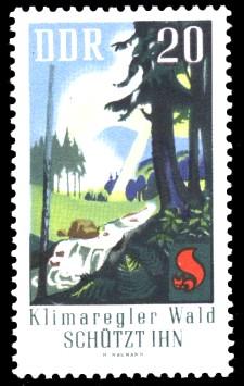 20 Pf Briefmarke: Waldbrandschutzerziehung