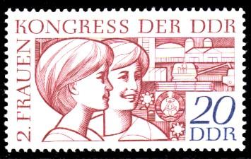20 Pf Briefmarke: 2. Frauenkongress