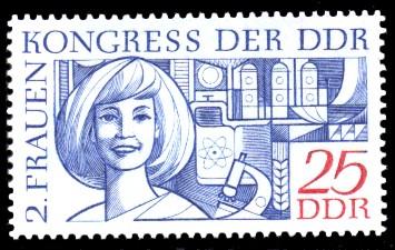 25 Pf Briefmarke: 2. Frauenkongress