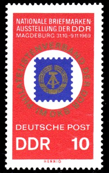 10 Pf Briefmarke: Briefmarkenausstellung der DDR