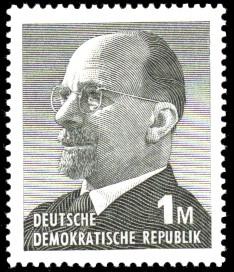 1 M Briefmarke: Walter Ulbricht