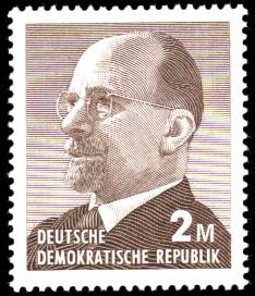 2 M Briefmarke: Walter Ulbricht