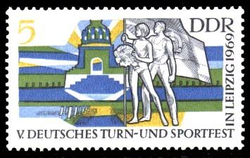 5 Pf Briefmarke: V. Turn- und Sportfest in Leipzig