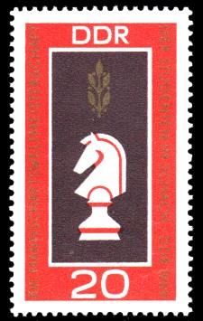 20 Pf Briefmarke: Weltmeisterschaften im Schach in Dresden