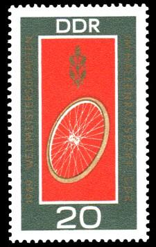 20 Pf Briefmarke: Weltmeisterschaften im Bahnradsport in Erfurt