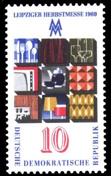 10 Pf Briefmarke: Leipziger Herbstmesse 1969