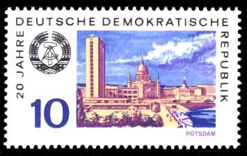 10 Pf Briefmarke: 20 Jahre DDR, Potsdam