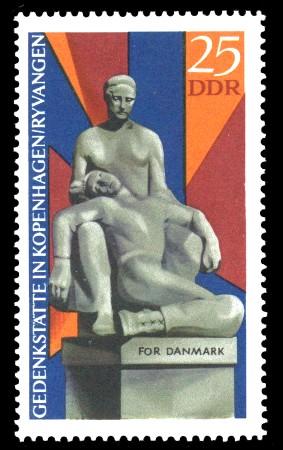 25 Pf Briefmarke: Internationale Mahn- und Gedenkstätte Ryvangen