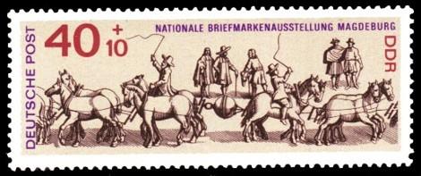 40 + 10 Pf Briefmarke: Nationale Briefmarkenausstellung Magdeburg