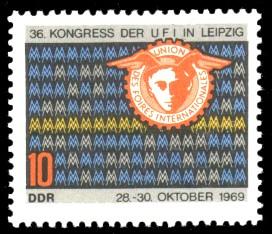 10 Pf Briefmarke: 36. Kongress der UFI