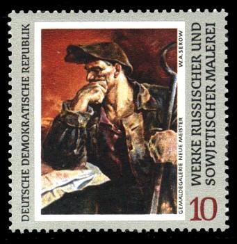 10 Pf Briefmarke: Werke russischer und sowjetischer Malerei, Stahlwerker