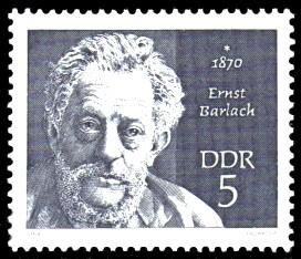 5 Pf Briefmarke: Bedeutende Persönlichkeiten, Ernst Barlach