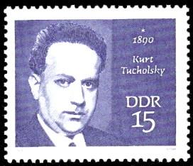 15 Pf Briefmarke: Bedeutende Persönlichkeiten, Kurt Tucholsky