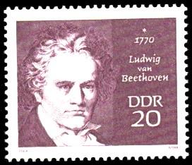 20 Pf Briefmarke: Bedeutende Persönlichkeiten, Ludwig van Beethoven