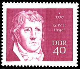 40 Pf Briefmarke: Bedeutende Persönlichkeiten, G.W.F. Hegel