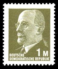 1 M Briefmarke: Staatsratsvorsitzender Walter Ulbricht