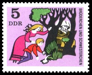 5 Pf Briefmarke: Deutsche Märchen, Brüderchen und Schwesterchen