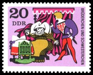 20 Pf Briefmarke: Deutsche Märchen, Brüderchen und Schwesterchen