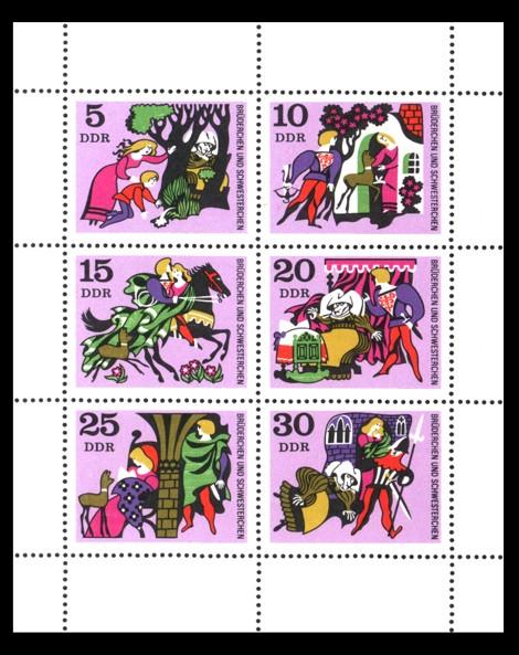 Briefmarke: Märchen-Kleinbogen Brüderchen und Schwesterchen